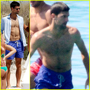 Novak Djokovic Continues His Bachelor Party Beach Vacation!