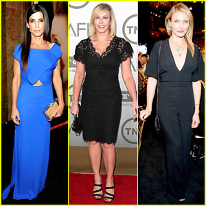 Sandra Bullock & Cameron Diaz Glam Up for AFI Award Event!