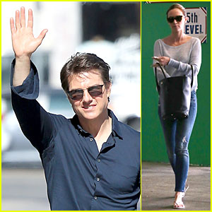 Tom Cruise & Emily Blunt Make It to Hollywood After International 'Edge of Tomorrow' Promo!