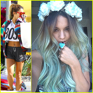 Vanessa hudgens from blonde to blue hair vanessa hudgens just vanessa hudgens from blonde to blue hair urmus Choice Image