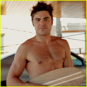 Zac Efron Goes Shirtless While Making Skateboards - VIDEO!