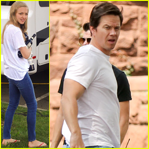 Mark Wahlberg & Amanda Seyfriend Arrive on Set for First Day of 'Ted 2' Filming!