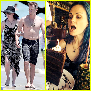 Anna Paquin Celebrates 32nd Birthday with Shirtless Hubby Stephen Moyer!