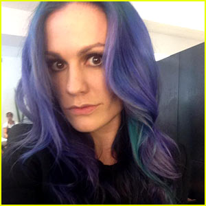 Anna Paquin Dyes Her Hair Blue & Purple - See the New Look!