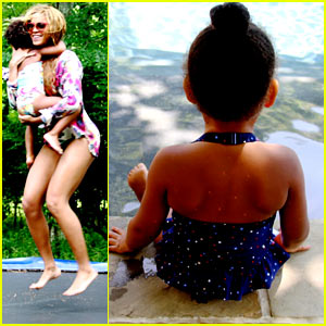 Beyonce Goes Swimming with Blue Ivy in New Family Photos!