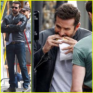 Bradley Cooper Takes a Big Bite Out of 'Adam Jones'!