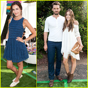 Camilla Belle & Chloe Bennet Keep it Chic at Just Jared's Summer Fiesta