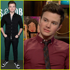 Chris Colfer Asked About Lea Michele & Naya Rivera's Rumored Feud - Watch His Awesome Answer!