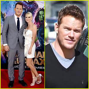 Chris pratt is definitely the leading man by anna faris side at chris pratt is definitely the leading man by anna faris side at guardians of the galaxy premiere junglespirit Image collections