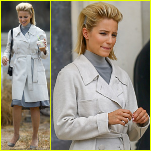 Dianna Agron Rocks Really High Hair for 'Headlock' Filming