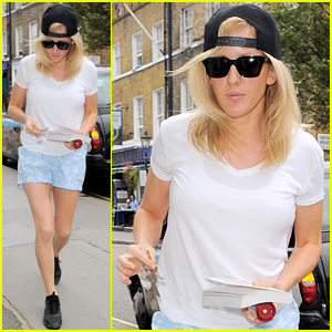 Ellie Goulding Gets in Some Good Reading on Her Day Off