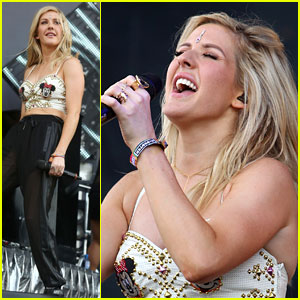 Ellie Goulding Brings Some Joy to Wireless Festival 2014!