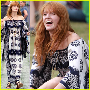 Florence Welch Channels Her Inner Hippie at British Summer Time Festival