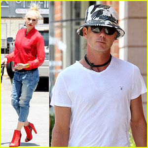 Gwen Stefani Takes Her Red Hot Heels for a Ride!