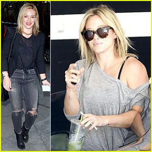 Hilary Duff Keeps It Sheer Black at Cher's Staples Center Concert!