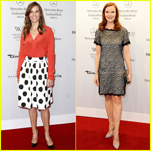 Hilary Swank & Marcia Cross Get Dolled Up for Marc Cain Fashion Show in Berlin!
