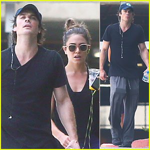 Ian Somerhalder & Nikki Reed Get Hot & Sweaty at Los Angeles