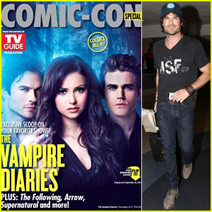 Ian Somerhalder Covers 'TV Guide Magazine' with 'Vampire Diaries' Co-Stars Nina Dobrev & Paul Wesley