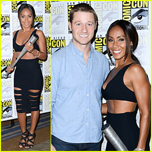 Jada Pinkett Smith Scares Ben McKenzie With a Bat at Comic Con