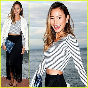 Jamie Chung Twirls in the Sunset at Just Jared x REVOLVE Dinner in Malibu!