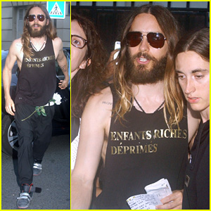 Jared Leto is Greeted By a Swarm of Fans Before Big 30 Seconds to Mars Concert at Theatre Antique!