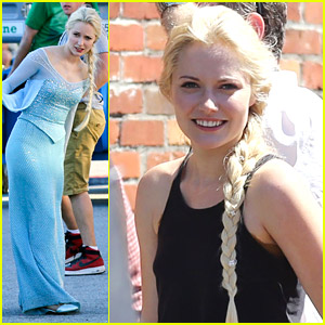 First Pics of Georgina Haig as Frozen's Queen Elsa on 'Once' Set!