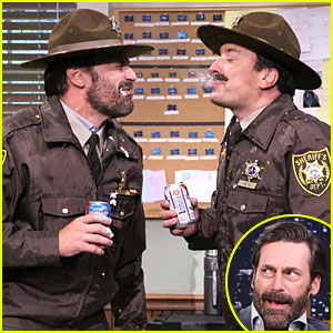 Jon Hamm & Jimmy Fallon Spit Food at Each Other on 'Tonight Show' - Watch Now!