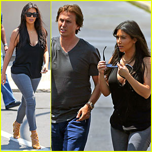 Kim Kardashian & BFF Jonathan Cheban Enjoy the Jersey Shore Together!