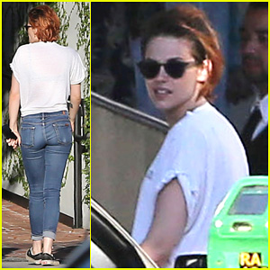 Kristen Stewart Steps Out with Friends for Lunch After Dressing In Drag for Jenny Lewis Music Video!