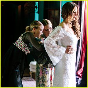 marykate amp ashley olsen designed gorgeous wedding gown