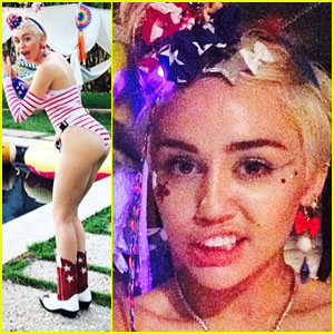 Miley Cyrus Shows Her American Pride in New Fourth of July Pics - See Them Here!