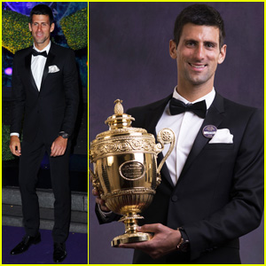 Novak Djokovic Celebrates Win at Wimbledon Championships Winners Ball 2014