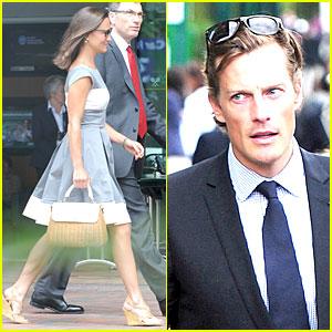 Pippa Middleton & Nico Jackson Watch Novak Djokovic Win at Wimbledon!