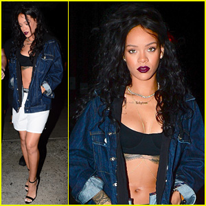 Rihanna Shows Off Her Bare Midriff for Jeremih's 'Don't Tell Em' Single Release Party!