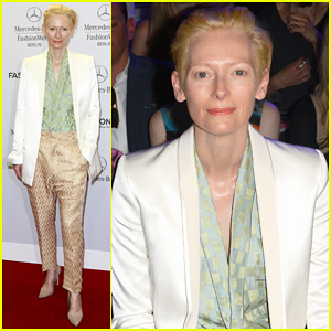 Tilda Swinton is a Sophisticated Lady at Roshi Porkar Fashion Show in Berlin!