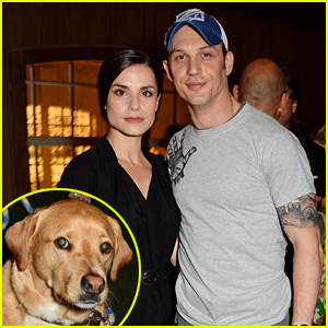 Tom Hardy Brings the Family - Partner Charlotte Riley & Pup Woody - to BLAG Label Launch!