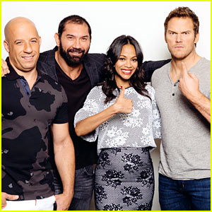 Zoe Saldana & Chris Pratt Ham It Up at 'Guardians of the Galaxy' Press Junket!