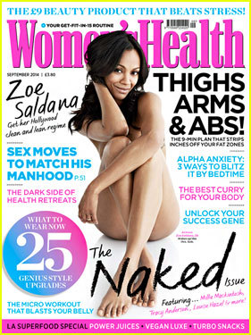 Zoe Saldana Is Naked & Sexy For 'Women's Health UK'