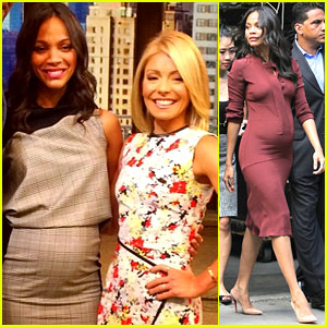 Zoe Saldana Puts Baby Bump on Full Display in New York!