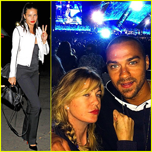 Adriana Lima, Ellen Pompeo & Jesse Williams Step Out for Rihanna & Eminem's Monster Tour in Pasadena!