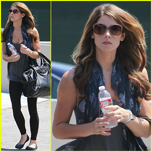 Ashley Greene Builds Some Muscle She Didn't Even Know Existed at Kickboxing Class