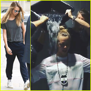 Cara Delevingne Gets Drenched While Completing the ALS Ice Bucket Challenge - Watch Now!