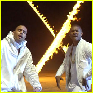 Chris Brown & Usher Play With Fire in 'New Flame' in Music Video - Watch Now!