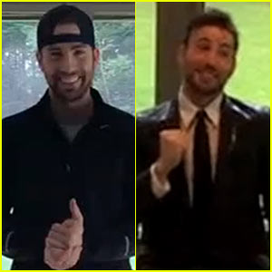 Chris Evans Wears a Suit & Tie for Ice Bucket Challenge Video!