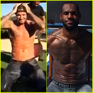 David Beckham Goes Totally Shirtless for the ALS Ice Bucket Challenge - Watch Now!