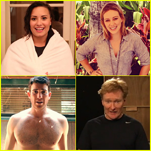 Demi Lovato, Hilary Duff, & More Take On the Ice Bucket Challenge - Watch Here!