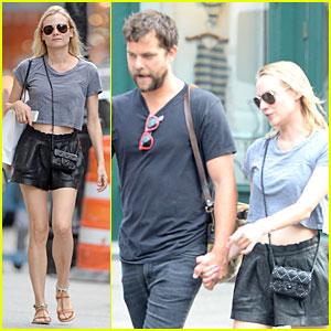 Diane Kruger Bares Midriff During Stroll With Boyfriend Joshua Jackson