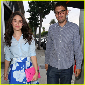 Emmy Rossum & Boyfriend Sam Esmail Enjoy West Hollywood Dinner Date