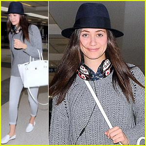 Emmy Rossum Flies the Skies to Film 'Shamless' in Chicago