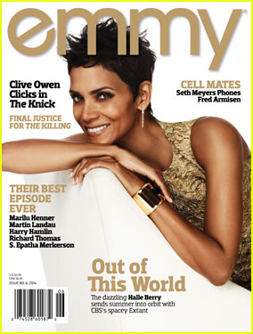 Halle Berry is the Golden Cover Girl For 'Emmy' Magazine (Exclusive)